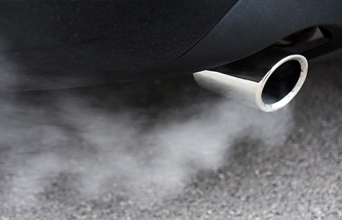 emissions from a car